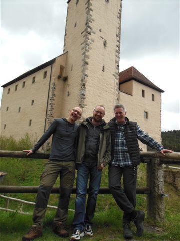 Jan, Sepp und Michael auf der Burg